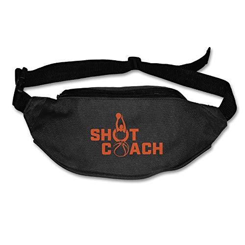 Running Waist Pack Travel Fanny Bag Shot Coach Basketball Zipper Sports Purse Pocket for Hiking Climbing Yoga Gym Workout Jogging