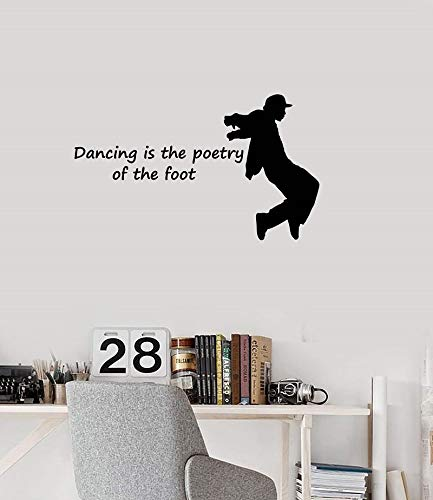 Vinyl wand applique dance hip-hop silhouette tanz break dance aufkleber wandhaupt wohnzimmer teen schlafzimmer wandaufkleber 57 * 96 cm (Teen Kissenbezüge)
