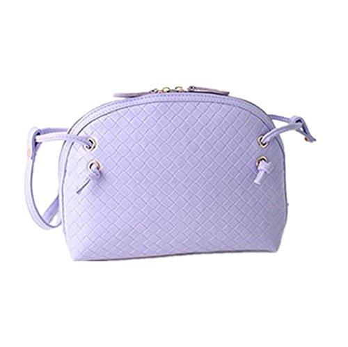 Borsa Familizo Elegant 1PC Hobo delle donne di spalla del sacchetto Faux borsa della cartella di Crossbody del Tote (Viola)