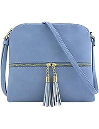 42403faaeaac0 SuperSU Frauen Klassische Leder Quaste Umhängetasche Pure Color  Schultertasche Messenger Bag…