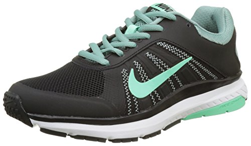 Nike 831535-005 Damen Trail Runnins Sneakers, Schwarz (Black/green Glow/cannon/white), 37.5 EU