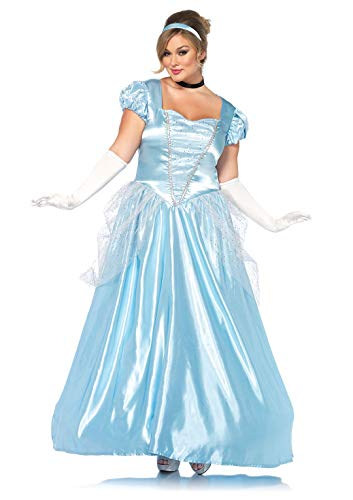 Leg Avenue 85518X Fasching Kostüm, blau, Größe: 1XL/2XL (EUR (Cinderella Kostüm Plus Größe)