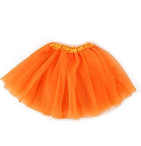 A LIITTLE TREE New Ladies Girls Women Tutu Skirts Dress Up Fancy Dress Party Hen Party (Orange) (Hen Party Kostüm London)
