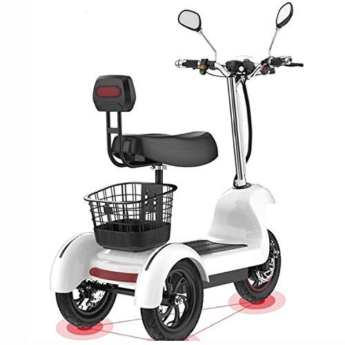 SZ-DDC Triciclo de Scooter eléctrico de Tres Ruedas Scooters eléctricos 12 Pulgadas 48V 500W portátiles Adultos Scooter eléctrico con Dos...