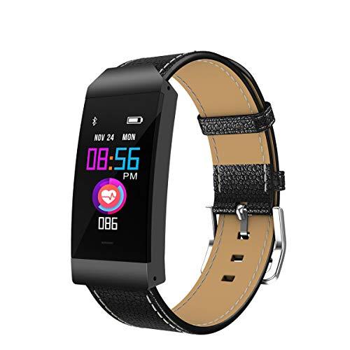 GOKOO Smartwatch Sportivo Donna Fitness Tracker Impermeabile IP67 attività Tracker Schermo a Colori Orologio Braccialetto Cardiofrequenzimetro Telecamera Remota per iOS e Telefoni Android (Nero)