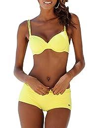 Amuster Bikini Femme Maillot de Bain Maillot de Bain Push-Up Rembourré Maillot de Bain Maillot de Bain (M, Multicolore)