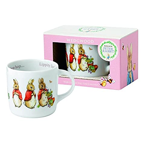 Wedgwood Girl's Peter Rabbit Single Handled Mug, White and Pink by Wedgwood