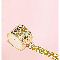 Mariposas de Cobre/Oro Rosa Gold Foil Washi Tape para Diarios y Planificadores • Scrapbooking • Artesanias • Oficina • Artículos de Fiesta • Envoltorios de Regalo • Ideal para Manualidades • Cinta Adhesivas Decorativa • DYI