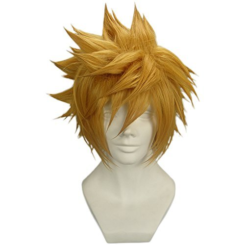 (Halloween Dicke Perücke Anime Film Cosplay Kostüm Kurze Pre-Styled Haar Requisiten für Erwachsene Verrücktes Kleid Kleidung Zubehör)
