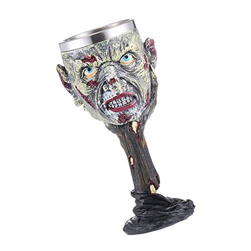 MagiDeal Resina Aislado Goblet Taza de Vino Decorativo Diseño de Zombie Cerveza