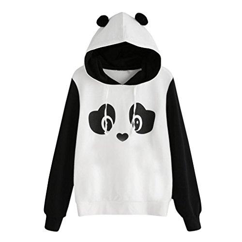 Tefamore Mode aux Femmes Sweat à Capuche Panda Sweat à Capuche Pullover Tops Blouse