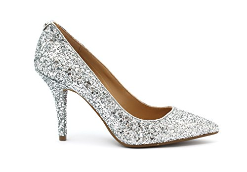 Decolleté Michael Kors MK-FLEX HIGH PUMP Glitter Fabric SILVER Taglia 37 - Colore ARGENTO