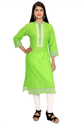 Alobha Cotton kurtis for women (Green