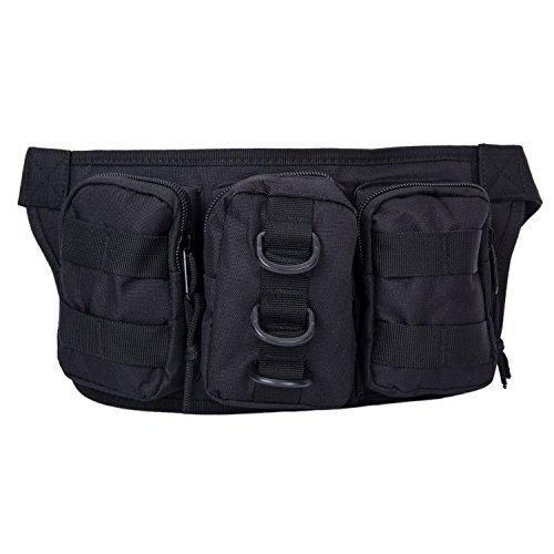 Herren Militär Gürteltasche Reisen Sport Tactical Hüfttasche Outdoor Bauchtasche Schwarz