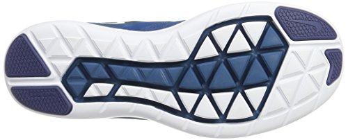 Nike Herren Men's Nike Free Rn Sense Running Shoe Laufschuhe Mehrfarbig (Black/White-Industrial Blue-Blue Legend)