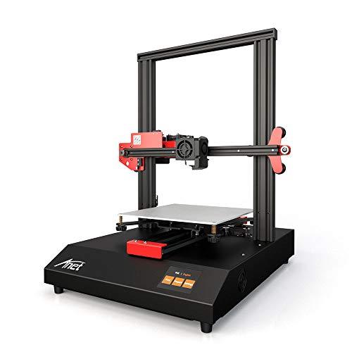 Leslaur Impresora 3D Anet ET4 Estructura de estructura metálica Volumen de construcción 220 * 220 * 250 con pantalla táctil a color de 2.8 pulgadas Tarjeta de calor 8G TF y 10m PLA Muestra Soporte de