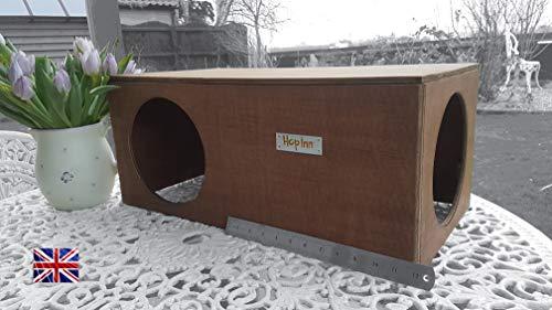 Hop Inn - Escondite de conejo, túnel, casa para gato, escondite para interior o exterior, grande, propio diseño, construido para durar, listo.