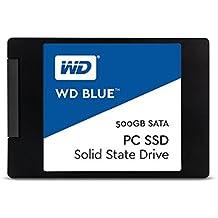 """WD Blue SSD - Disco duro sólido de 500 GB (SATA III a 6 Gb/s, carcasas de 2,5""""/7 mm, lectura secuencial de hasta 545 MB/s)"""