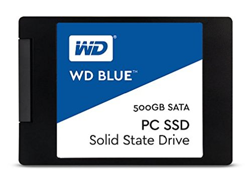 Price comparison product image WD Blue WDS500G1B0A 500 GB Internal SSD Solid State Drive, SATA 6 GB/s 2.5 Inch