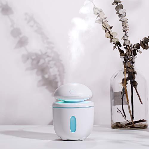 Planta Humidificador de Setas Grandes Doméstico mudo Dormitorio de Gran Capacidad Oficina mujer Embarazada Bebé Aaire Acondicionado Purificación de Aire (ventilador + humidificador) (blanco)