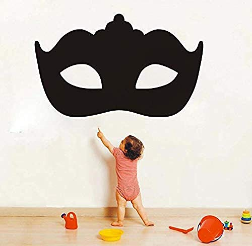 Muster Wandaufkleber Moderne Maskerade Maske Wandaufkleber Kopfteil Dekorative Schwarz Vinyl Selbstklebende Kunst Tapete Schlafzimmer Wand Decal70X43Cm