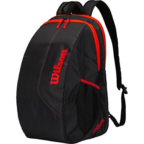Wilson Damen/Herren Tennis-Rucksack, Freizeitspieler, Team Backpack, Einheitsgröße, schwarz/orange, WRZ837895