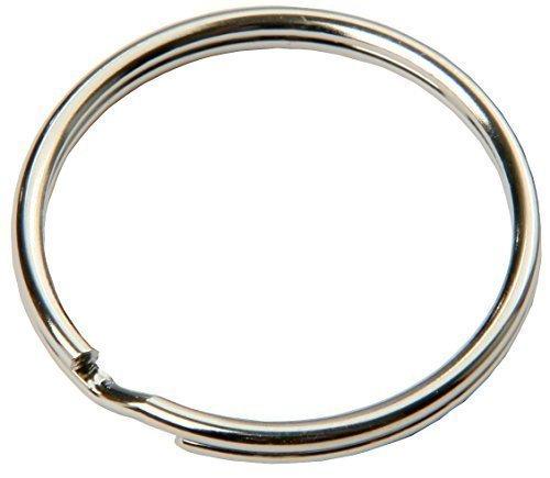 SBS® Schlüsselring | Ø 25 mm | 100 Stück | Stahl | glänzend und abgerundet | Schlüsselanhänger Schlüsselringe Schlüssel Ring