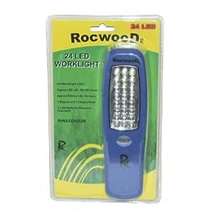 Lampe Torche 24 LED Lampe De Travail Mécanicien Magnétique Camping Inspection Cw Crochet