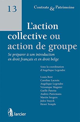 L'action collective ou action de groupe :: Se préparer à son introduction en droit français et en droit belge par Angélique Legendre