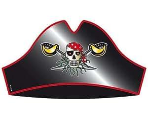 8x Piraten Hut