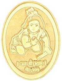Sri jagdamaba Pearls 4 gm, 24KT Yellow Gold Coin
