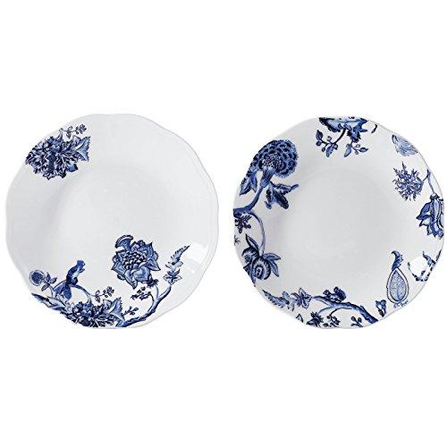 doubleblue-9-piatto-rotondo-scodella-set-da-2-porcellana-bone-china-pastorale-per-cene-party-feste-e