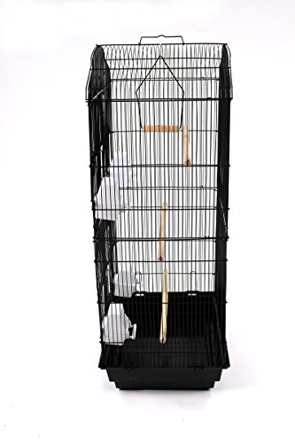 Easipet Large Metal Bird Cage for Budgie, Cockatiel, Lovebirds etc (Black) 6