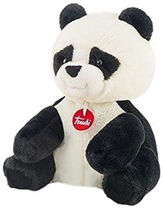 Trudi 19324 Oso Panda de Juguete Negro, Color Blanco Juguete de Peluche - Juguetes de Peluche (Oso Panda de Juguete, Negro, Color Blanco, 260 mm)