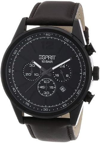 Esprit - ES106351003 - Montre Homme - Quartz Analogique - Bracelet Cuir Marron