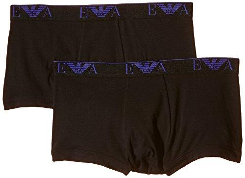 Emporio Armani Underwear Herren Retroshorts 1112105A715, 2er Pack Schwarz (NERO/NERO 07320)