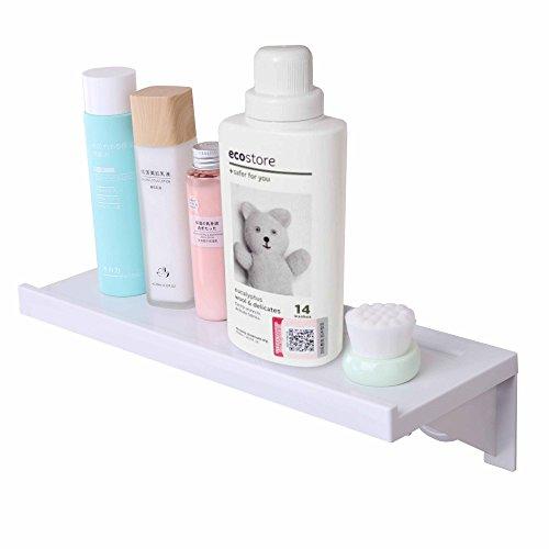 Einfache & Eco Life Regal Kit organizer-bathroom Küche Wand mounting-adhesive Bodenstaubsauber Saugnapf starker Halt Abnehmbare wiederverwendbar, weiß (Dusche Fliesen Wand Regal)