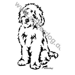 Amberdog Gold Doodle Wall Tattoo No. T0182®-The Original, Plastic, 120x74cm