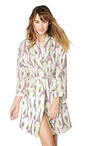 BedHead Damen Morgenmantel Weiß Lavender Weiß - Lavender