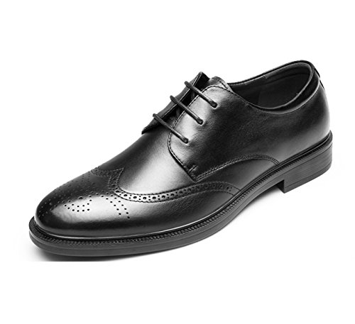 Hommes En Cuir Printemps Automne Noir Marron Mode Confortable Bas Top Casual Derby Oxford Mocassins En Dentelle Bullock Sculpté Chaussures Black