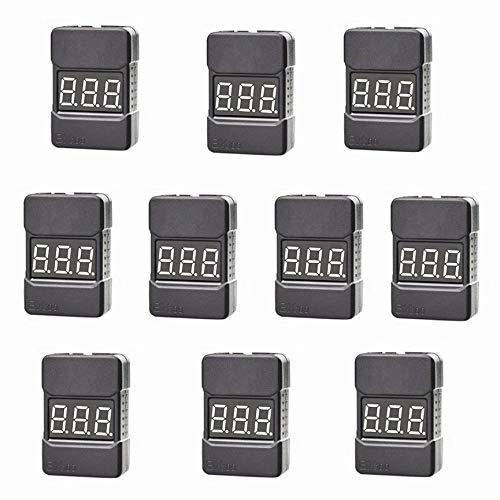 VCB Hotrc BX100 1-8s Anzeige Lipo Battery Tester Niederspannungsalarm RC-Tools - Weiß, Schwarz