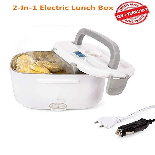 NiLeFo 2 en 1 pour la Voiture et Bureau Lunch Box Électrique - Gamelle Chauffante Acier Inoxidable...