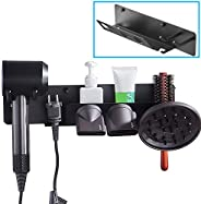 Hair Dryer Holder for Dyson Supersonic Hair Dryer, Wall Mount Magnetic Storage Stand Fit Diffuser Nozzles Plug