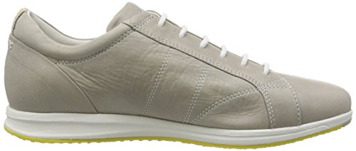 GEOX Avery sneakers donna sportiva lacci PELLE LT GREY GRIGIO D52H5A Grey
