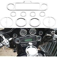 9 pcs altavoz estéreo Accent Velocímetro Anillo Embellecedor Para Harley davudson Touring Ultra Classic Electra Glide