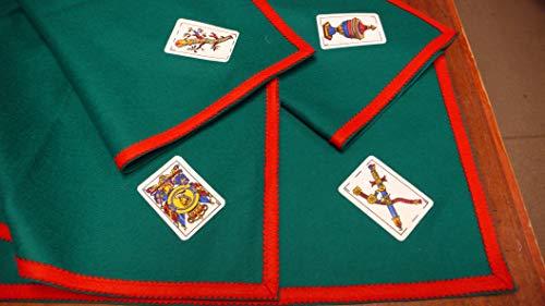 TAPETE Cartas Fieltro 100% Lana con ASES BARAJA ESPAÑOLA (130 X 130 CM SIN Cartas)