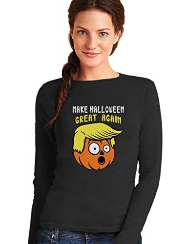 Witziges Geschenk Halloween Great Again Frauen Langarm-T-Shirt Medium Schwarz