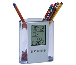 Calender Pen holder with Timer,Alarm clock,Thermometer