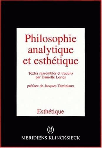 Philosophie analytique et esthetique