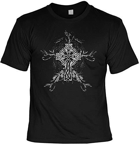 Unbekannt Gothic keltisch Kreuz Totenkopf Motiv T-Shirt : Gothic - T-Shirt bedruckt